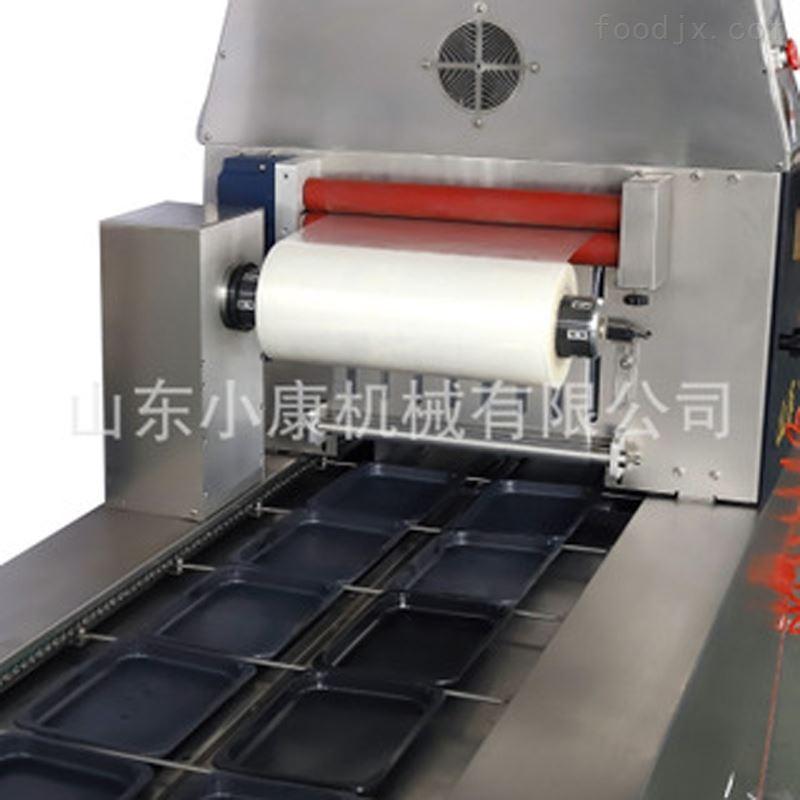 全自动连续贴体真空包装机包装冷冻产品