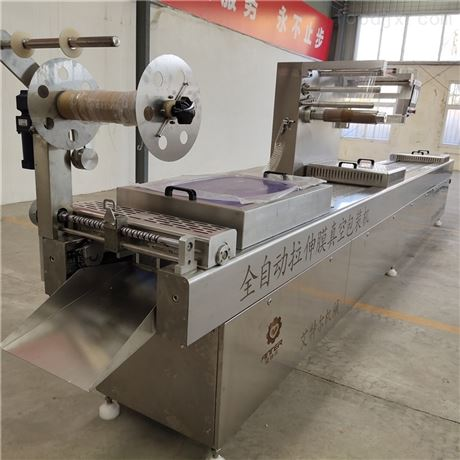 定制粽子专用拉伸膜真空包装机自动喷码