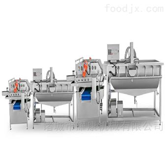 4000鲜切果蔬清洗净菜加工成套设备