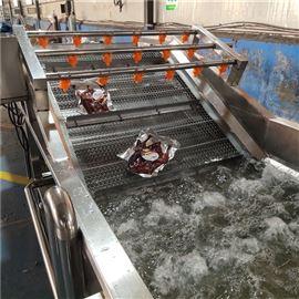 全自动农业蔬菜气泡清洗机加工生产流水线