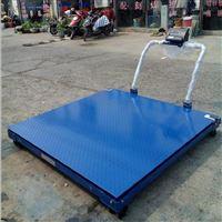 贵阳1000kg移动式平台秤 2T带轮子移动地磅