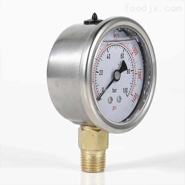 不锈钢耐震压力表, 耐高温腐蚀甘油硅油