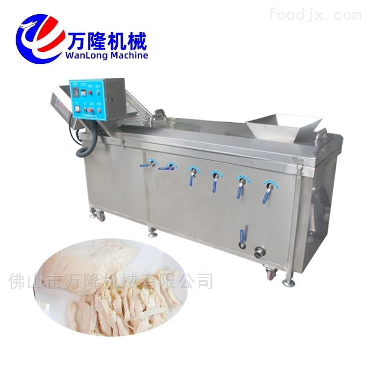 鸡爪自动化直销藕片茼蒿连续式漂烫机价格