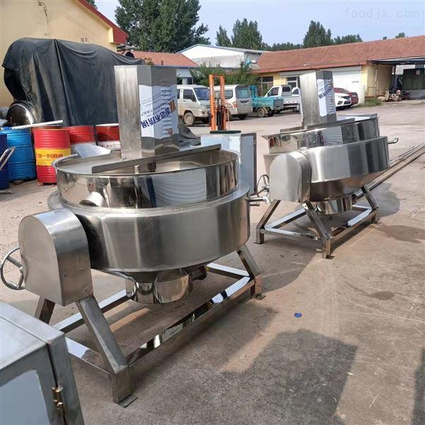 可倾带搅拌可控温火锅底料炒锅夹层锅