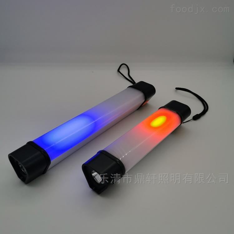 多功能磁吸挂钩挂绳警5W红蓝聚泛光照明管灯