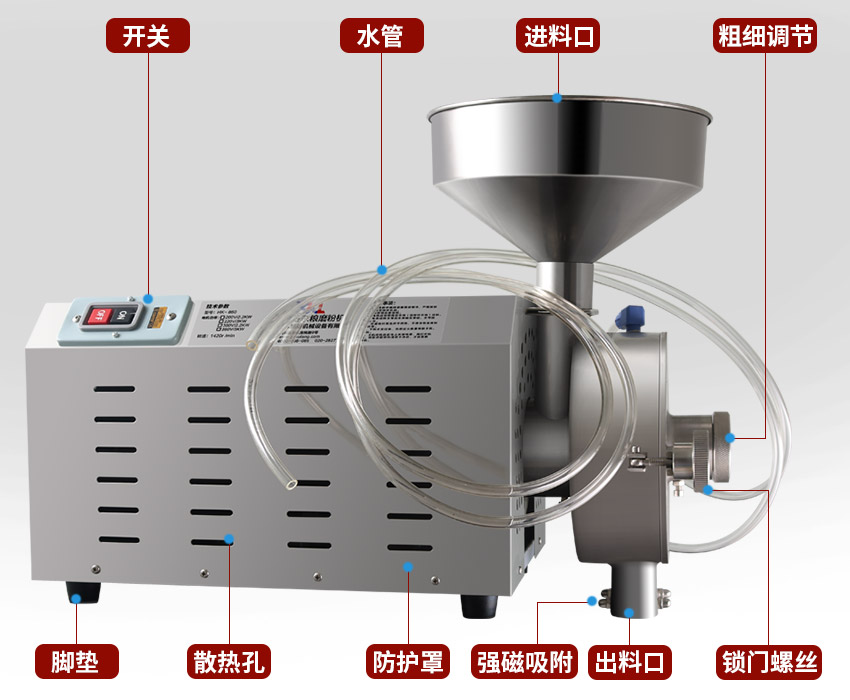 水冷式五谷杂粮磨粉机结构